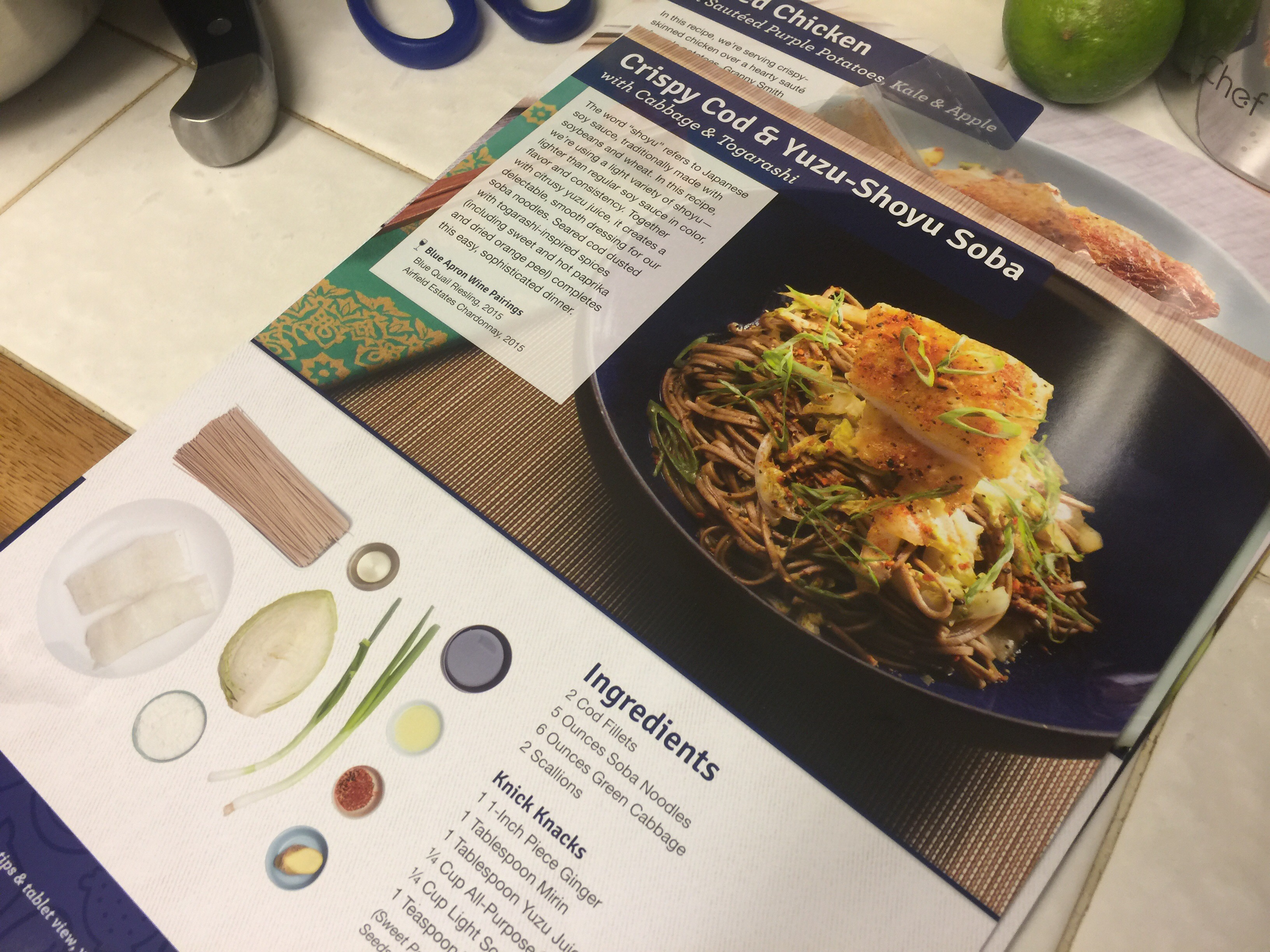 Blue apron yuzu cod - I Ll Be Eating The Recipies Throughout The Week I Sure Hope They All Turned Out Great From What I Ve Tasted So Far They Have But This Week Will Be The